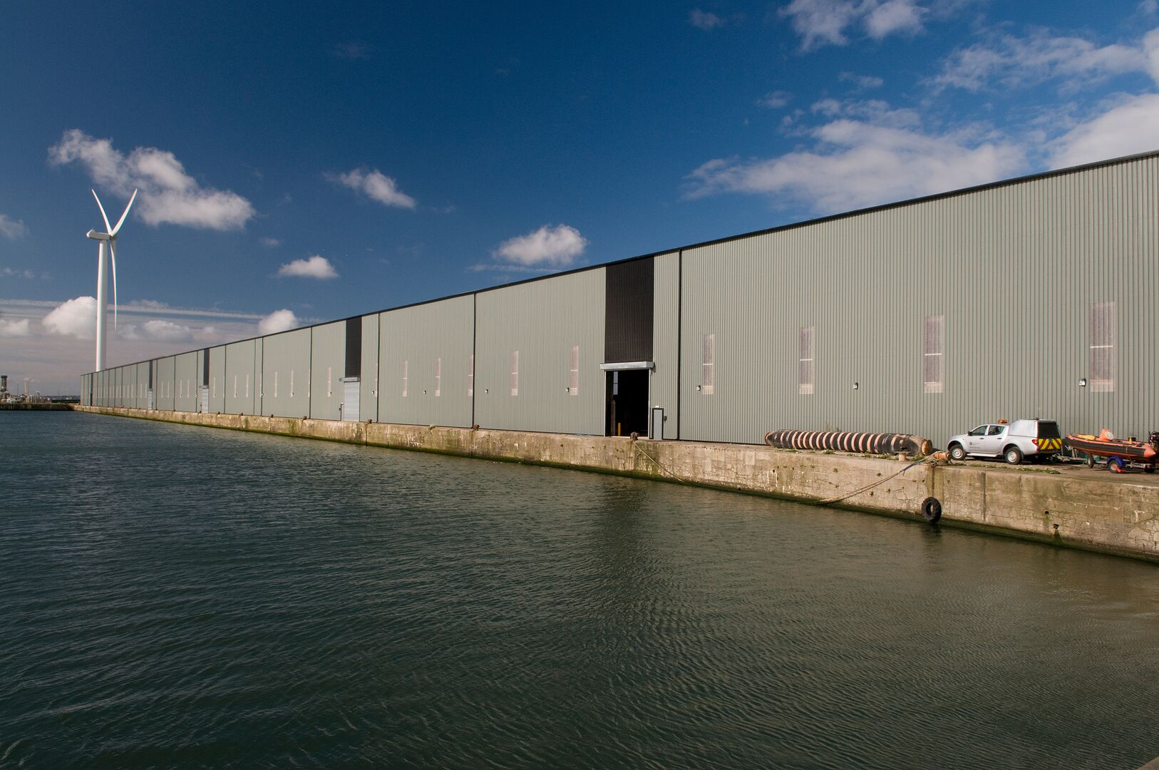 Huskinsson Dock Grain Store using Tata Steel steel wall cladding