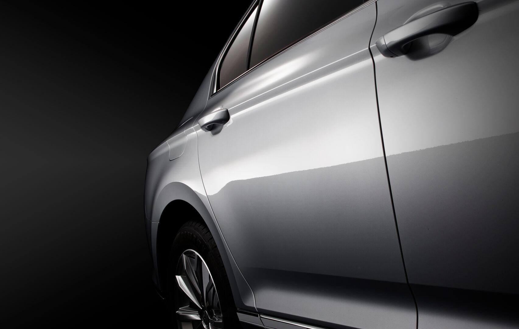 Auto body panel featuring Serica premium surface quality.