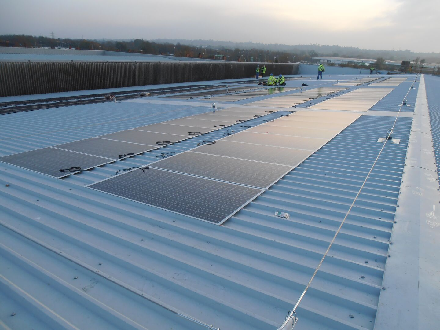 Deeside Leisure Centre using Tata Steel Trisobuild roof cladding