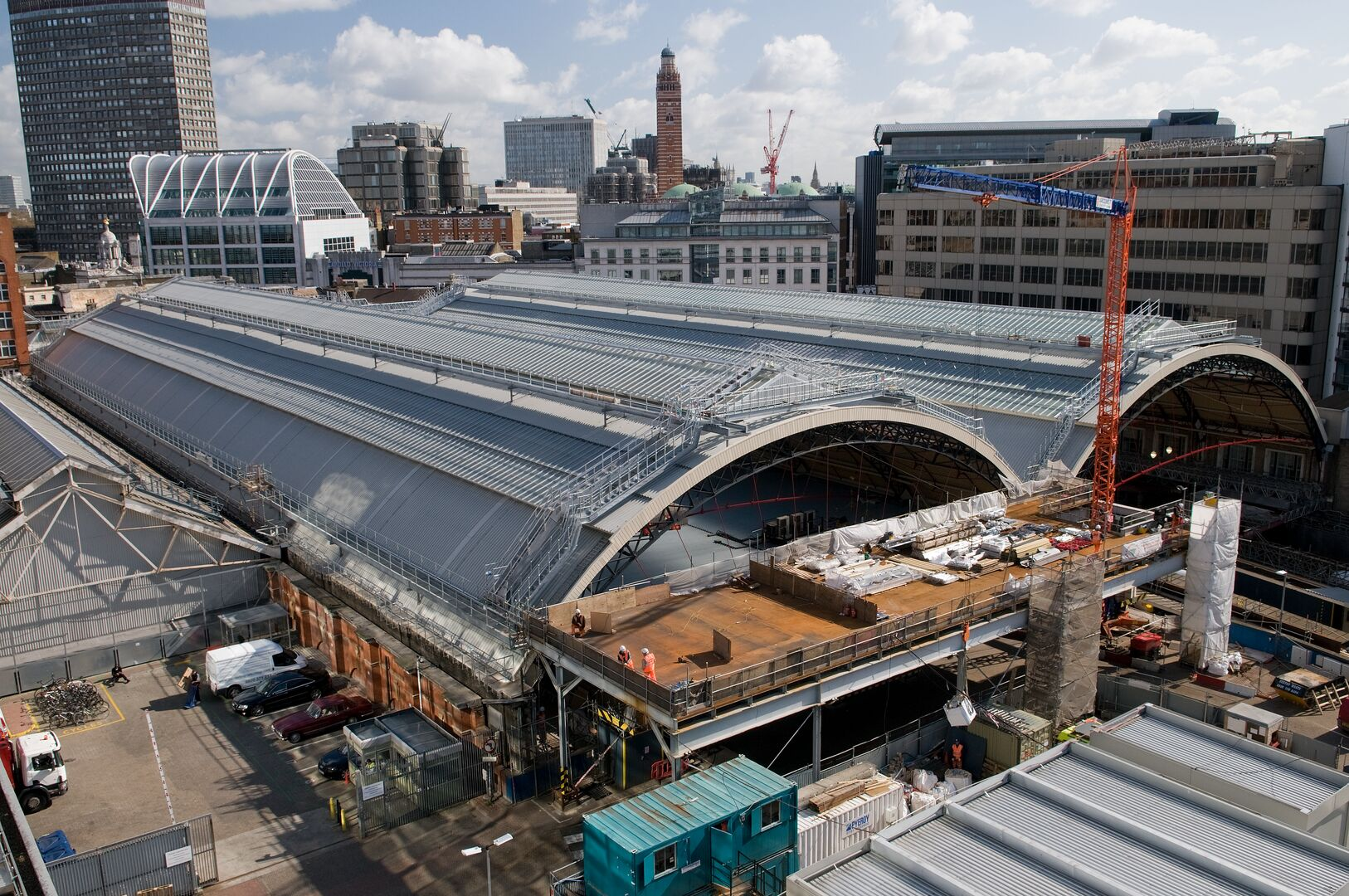 Trisobuild built up system curved roof for London Victoria Station