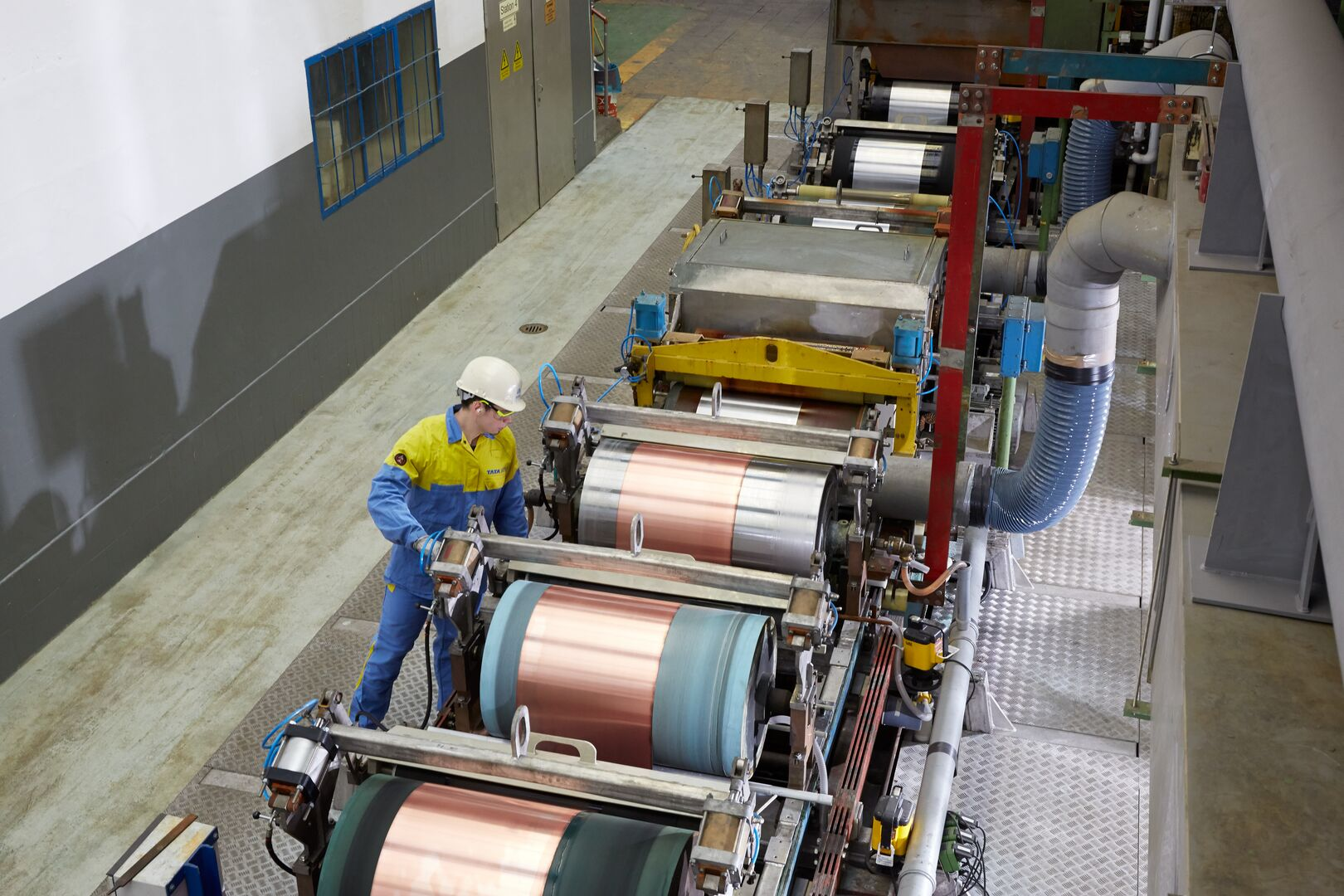 Copper plating line at Tata Steel manufacturing site