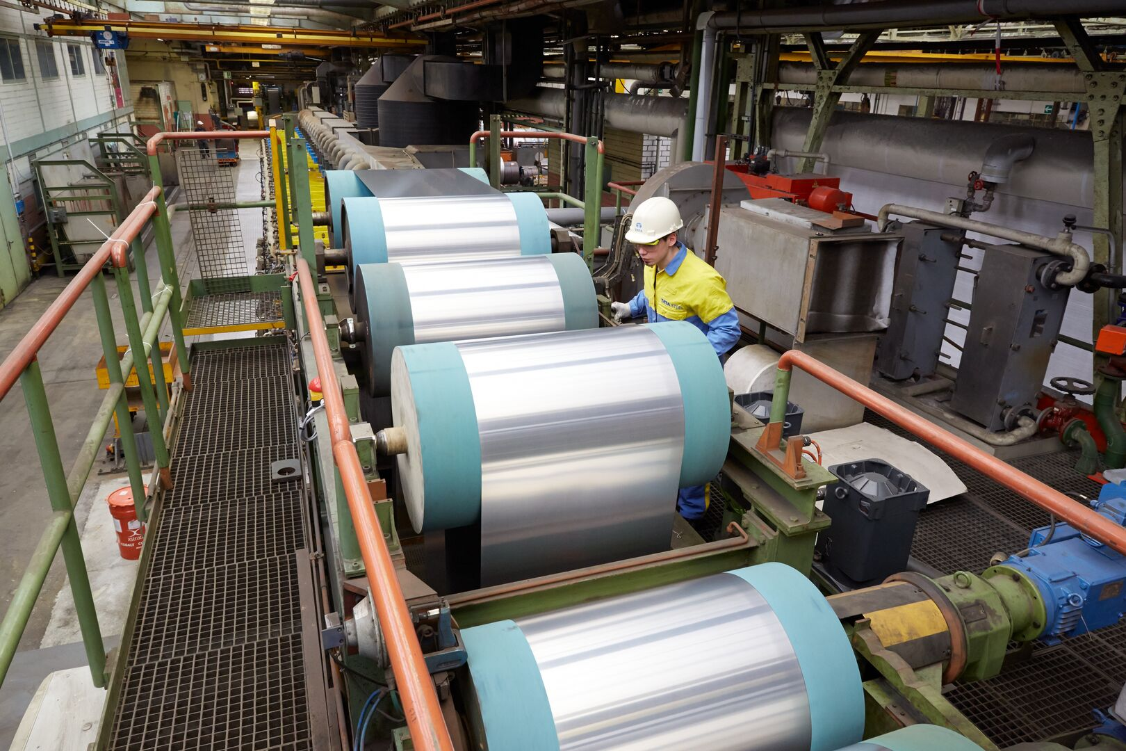 Nickel plating line at Tata Steel manufacturing site