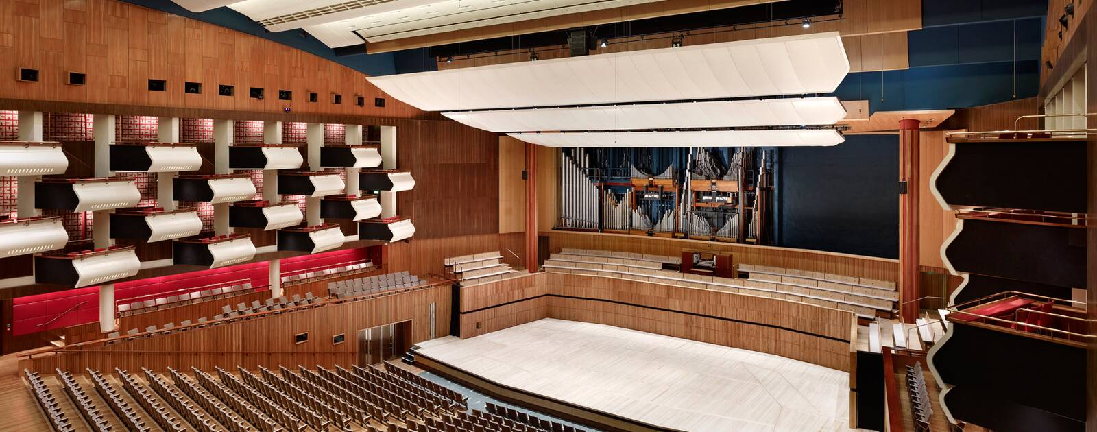 Empty view of the Royal Festival Hall auditorium at the Southbank Centre
