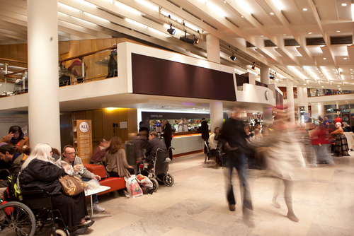 People around the Central Bar at the Southbank Centre