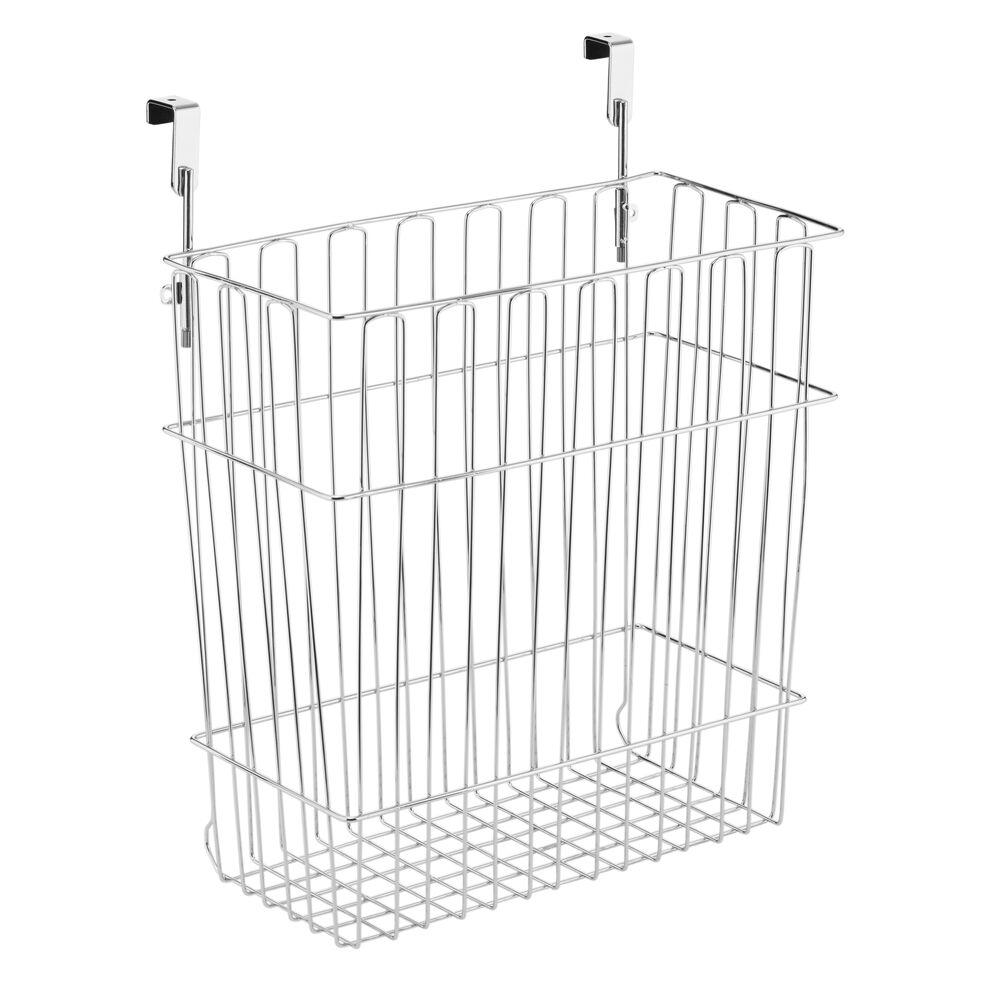 mdesign wire over cabinet door kitchen storage basket  trash can